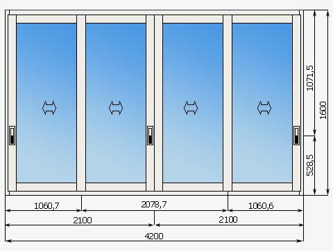 Высота окон на лоджии